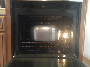 pot in the oven