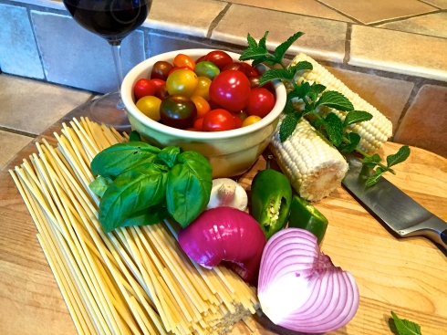 Summer Pasta Ingredients