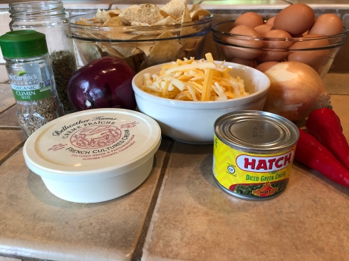 Chilaquiles ingredients